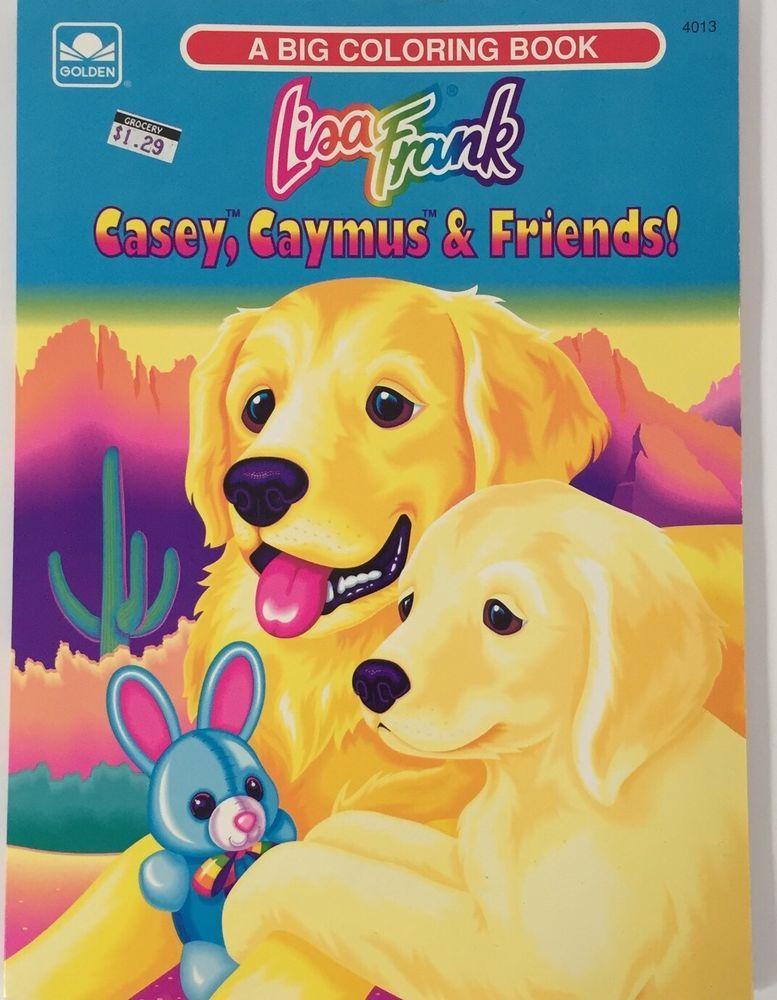 Lisa Frank Big Coloring Book Casey Caymus Vintage Golden Retriever ...
