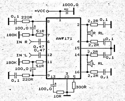 in the circuit use a ic an7171   minimum requirment