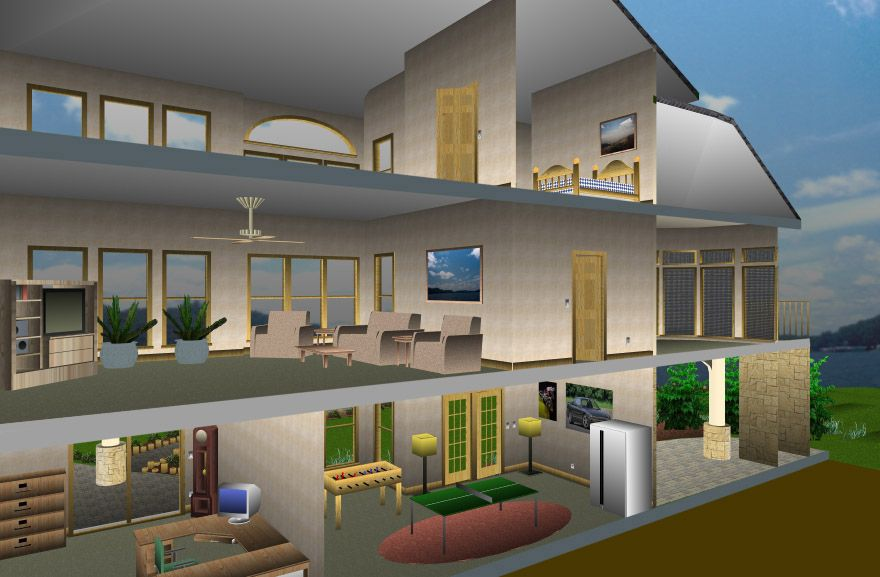 Architecture 3d Floor Plan And Interior Home Design By Home Designer Suit 2014 With Simple Application Home Designer Softwa House Design Minimalist House Design
