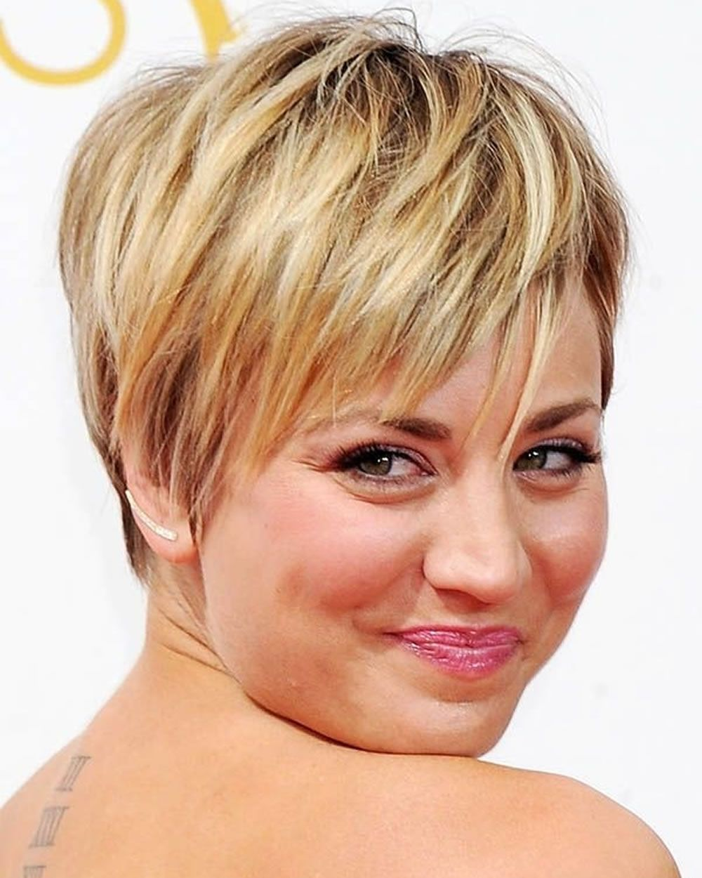 Short Hairstyles For Round Faces And Thin Hair  Short hair styles
