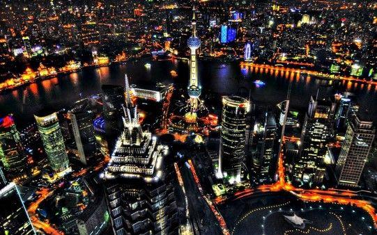 Shanghai Night View Free Hd Desktop Backgrounds Wallpapers Wallpapering Info Shanghai Night Shanghai Travel Shanghai Skyline