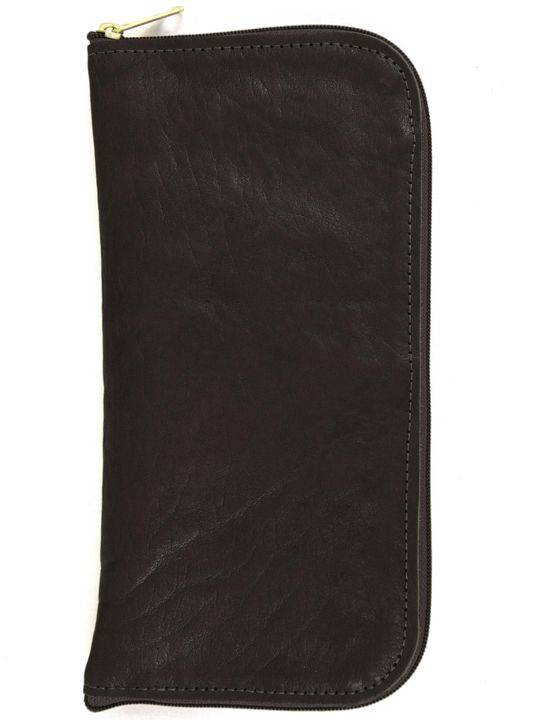 Jon Hart Design JH Travel Wallet Shown in Midnite Leather