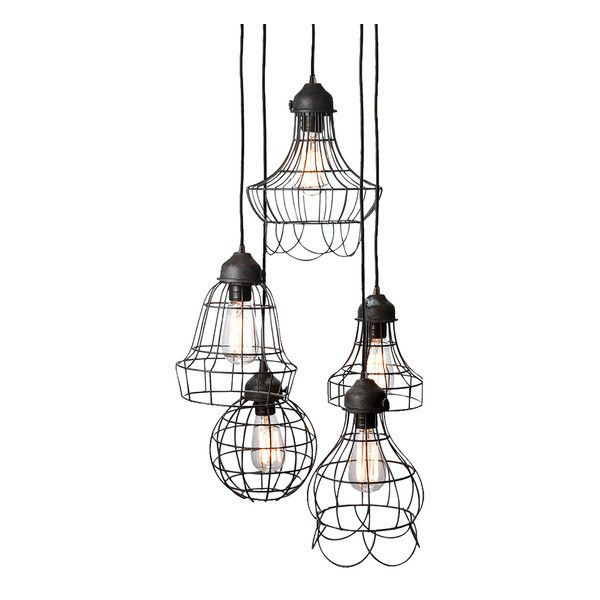 Berliner Five Pendant Lamp liked on Polyvore featuring