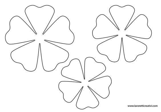 Подарок маме, шаблоны цветочек для вырезания из бумаги распечатать