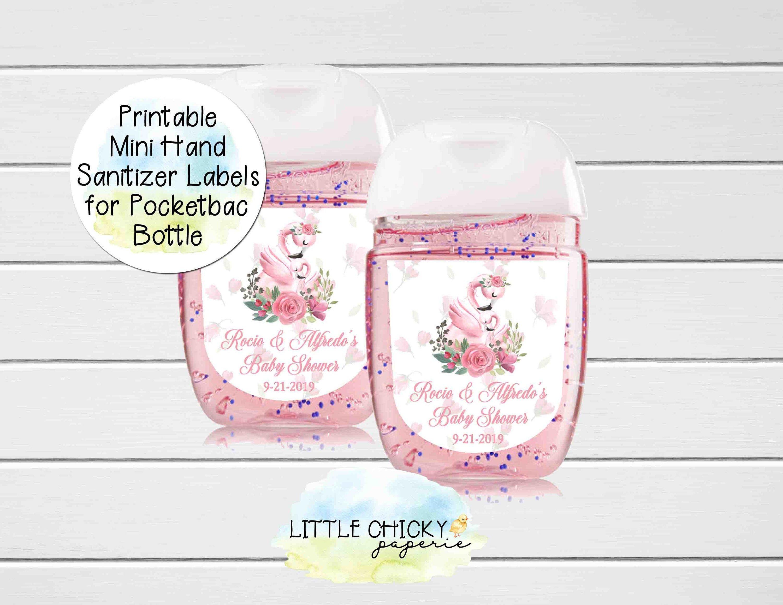 Printable Baby Shower Sanitizer Labels Mini Hand Sanitizer Label