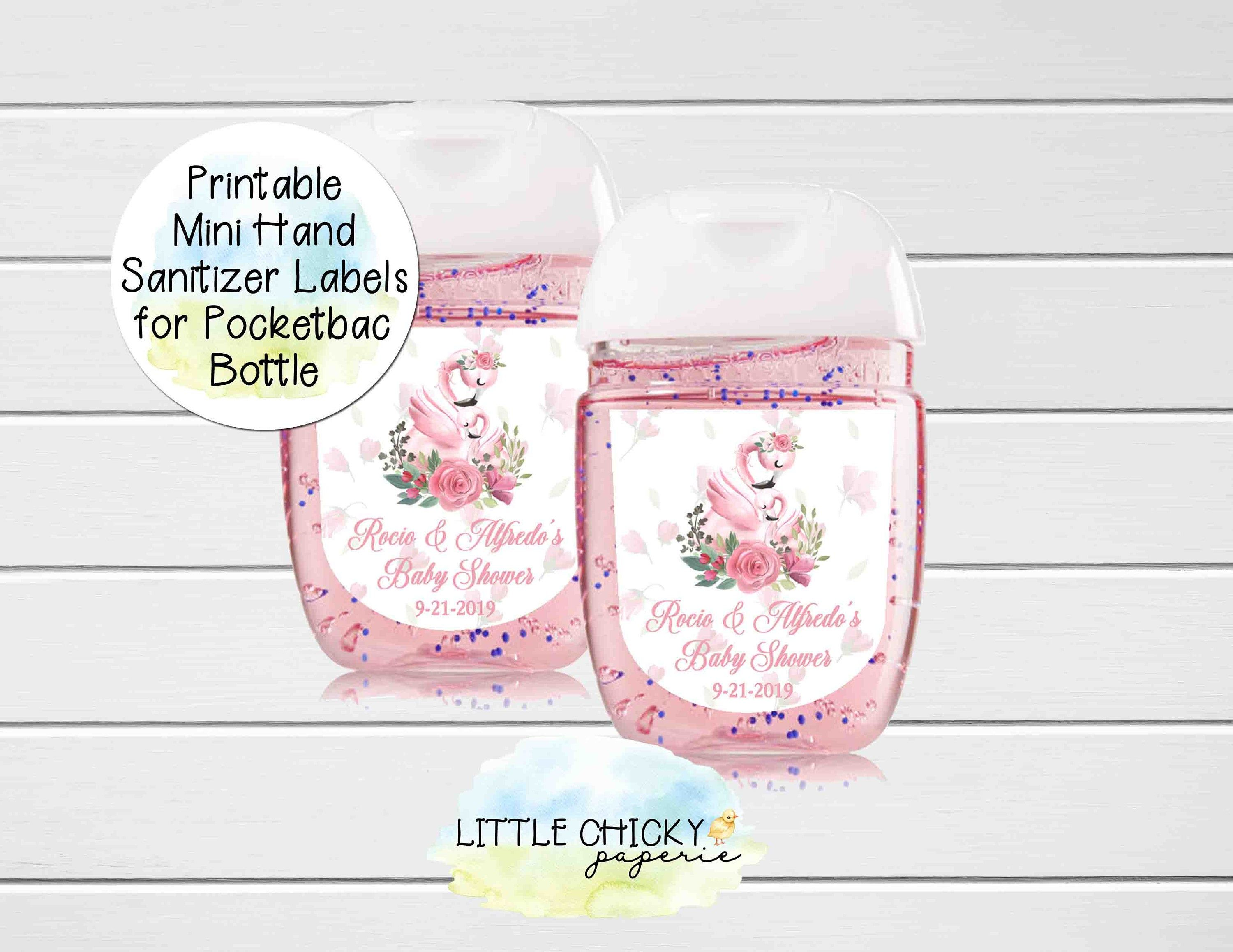 Flamingo Baby Shower Favor Labels Baby Shower Hand Sanitizer