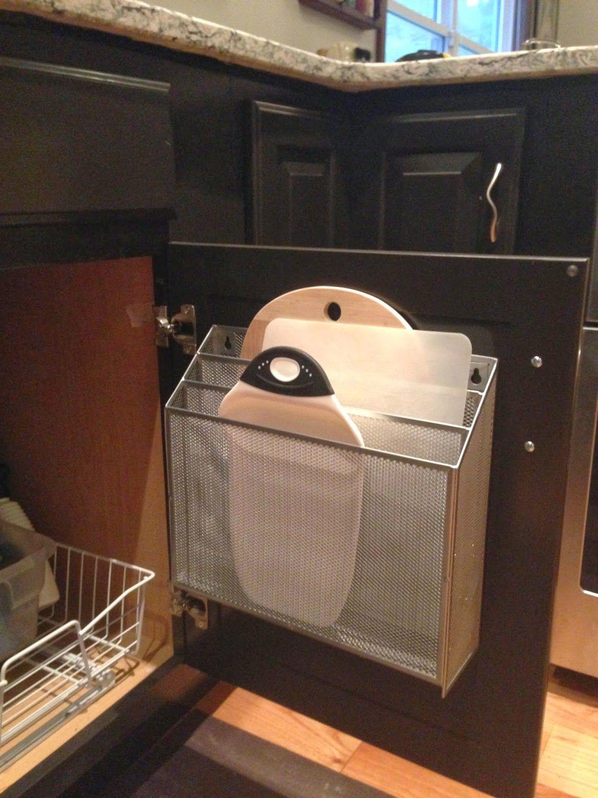 File Organizer Used as Kitchen/Cutting Board Storage | DIY Kitchen ...
