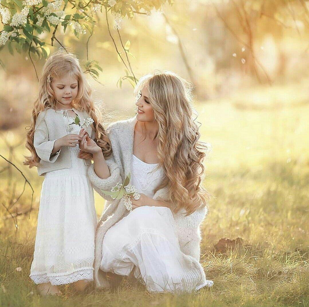 Красивые картинки про маму и дочку