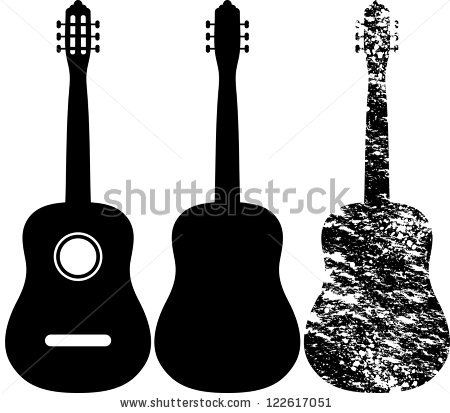 Black Silhouette Of Acoustic Guitar Black Acoustic Guitar Black Silhouette Acoustic