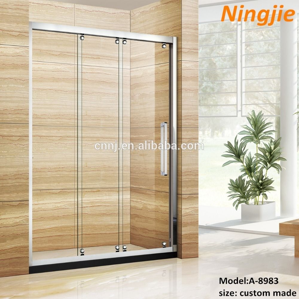 3 Panel Shower Doors With Mirror Shower Doors Shower Sliding