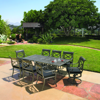 Powder Coated Patio Furniture Patio Outdoor Dining Furniture