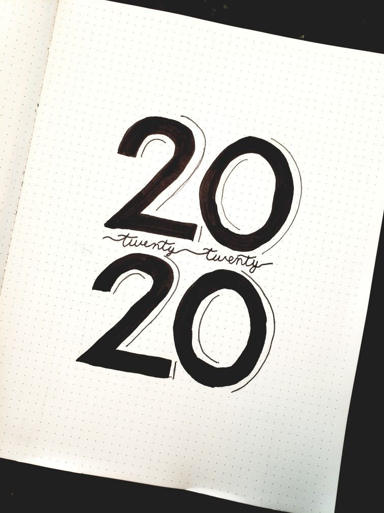 2020 cover page bullet journal