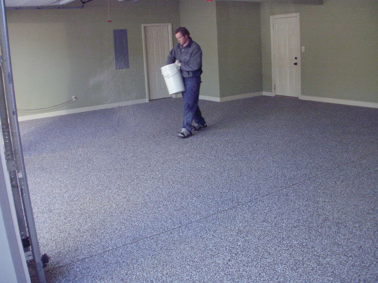 concrete simple painting paint floor picture floors for ideas garage design latex to home how