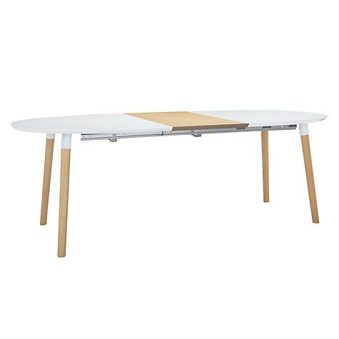 Buy John Lewis Belina 6 8 Seater Extending Dining Table White Online At Johnlewis