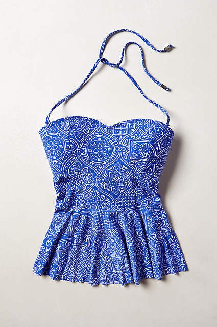 e53941c5afc46 mix-and-match peplum tankini top | anthropology | just because you ...