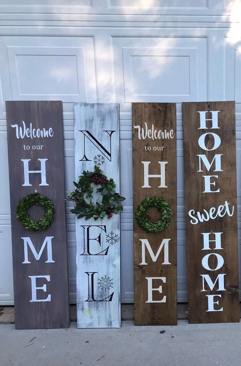 porch sign, welcome sign, welcome porch sign, spring porch sign, holiday porch sign, Christmas porch sign, welcome sign with wreath