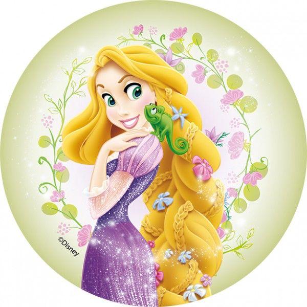 Принцесса картинка на торт круглая