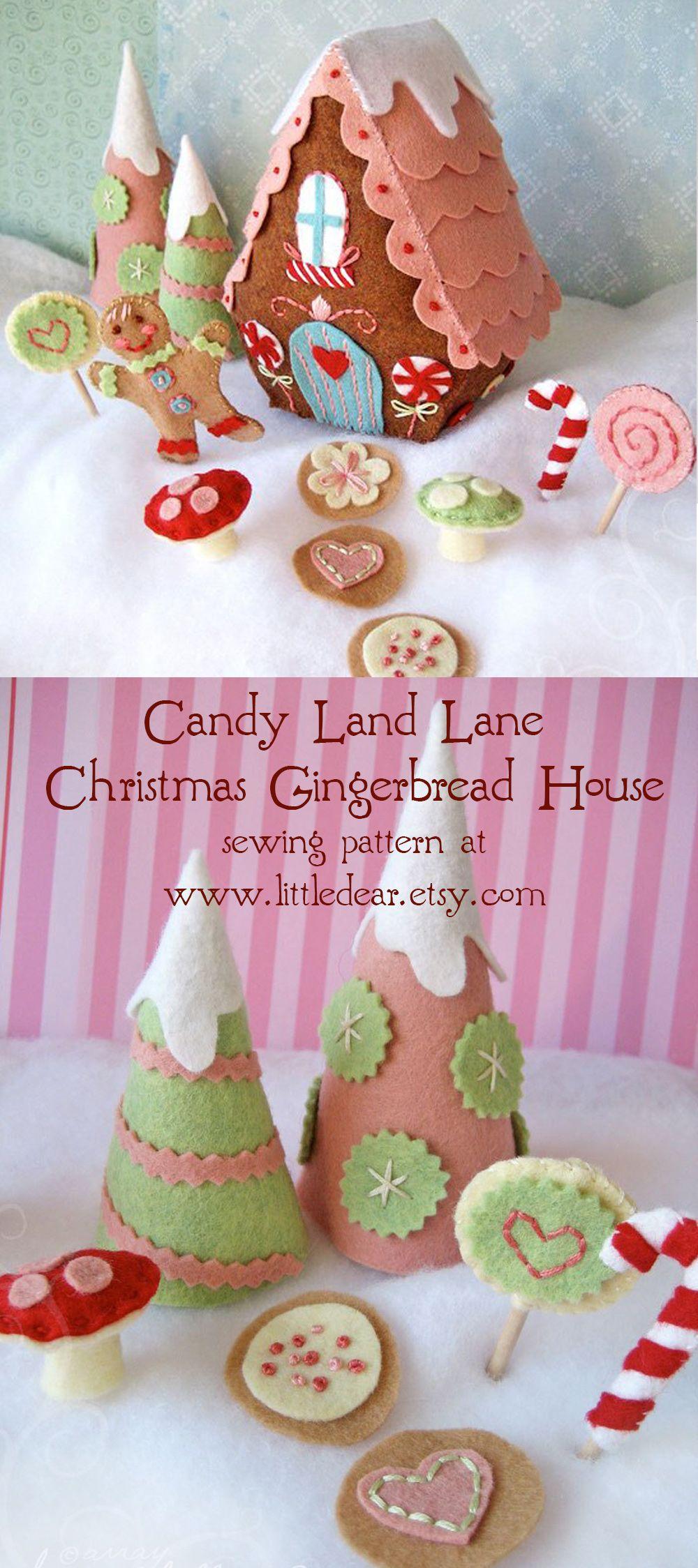 Candy Land Lane Plush Sewing Pattern PDF Download