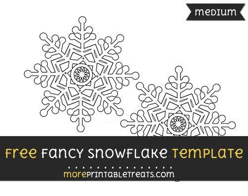Free Fancy Snowflake Template - Medium Shapes and Templates - snowflake template