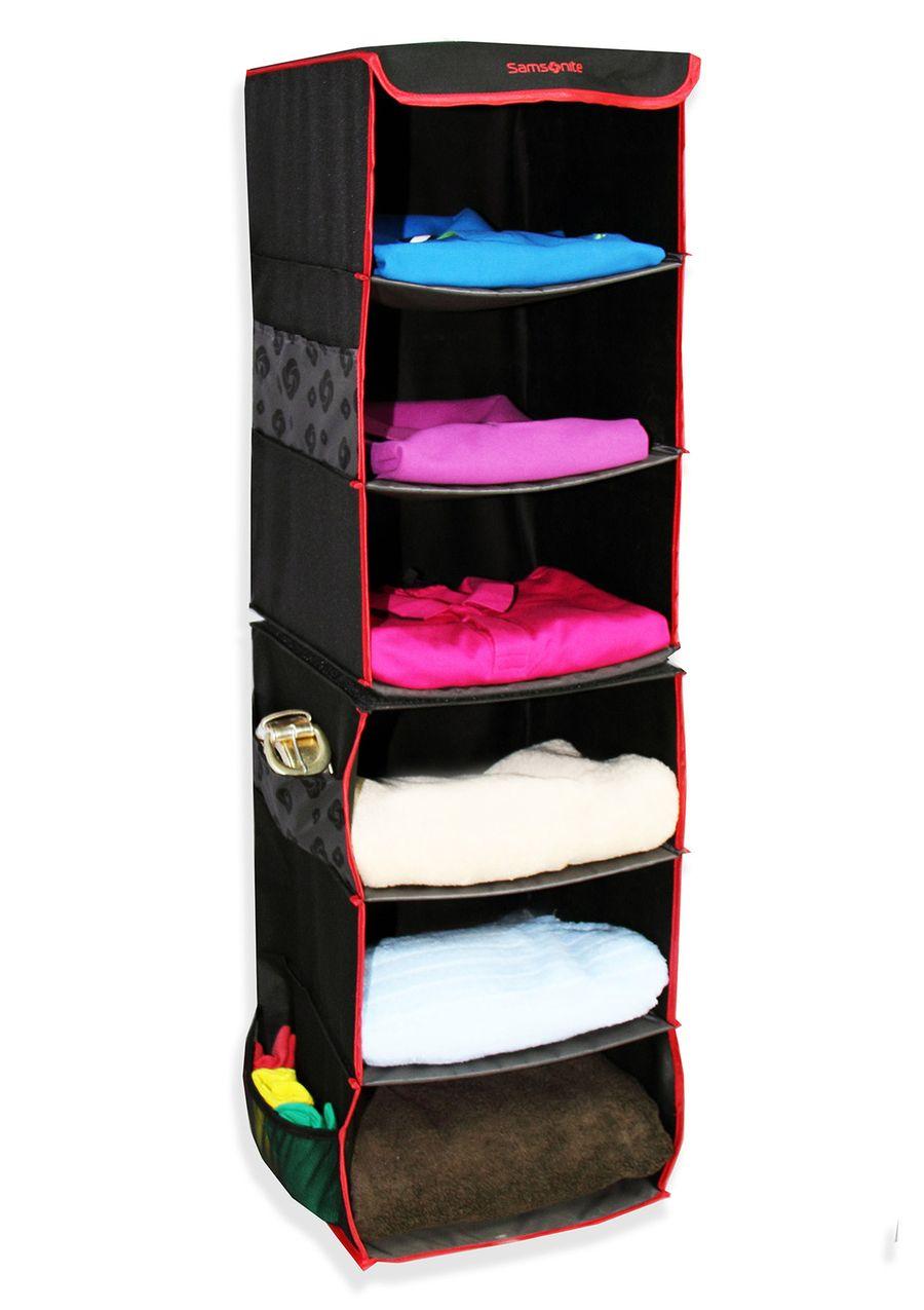 6 Tier Dividable Swivel Closet Organizer 6 Tier Dividable Swivel Closet  Organizer; Hook At Top For Easy Hanging; Mesh Exterior Pockets For Extra  Storage ...