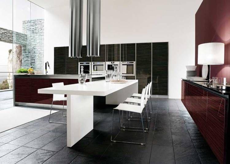Aménagement Cuisine Moderne Quels Design Et Matériaux Meuble - Amenagement cuisine rectangulaire