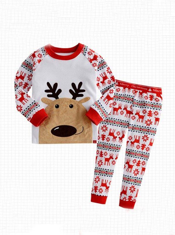 acd0bedf1 Short  Buy Kids  Snow Deer Cute Christmas Pajamas for only US  94.99 ...