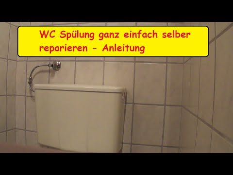 Anleitung Spülkasten reinigen Toilettenspülung