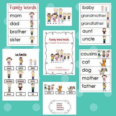 Adventures in Kindergarten: Family Word Walls | Family theme ...