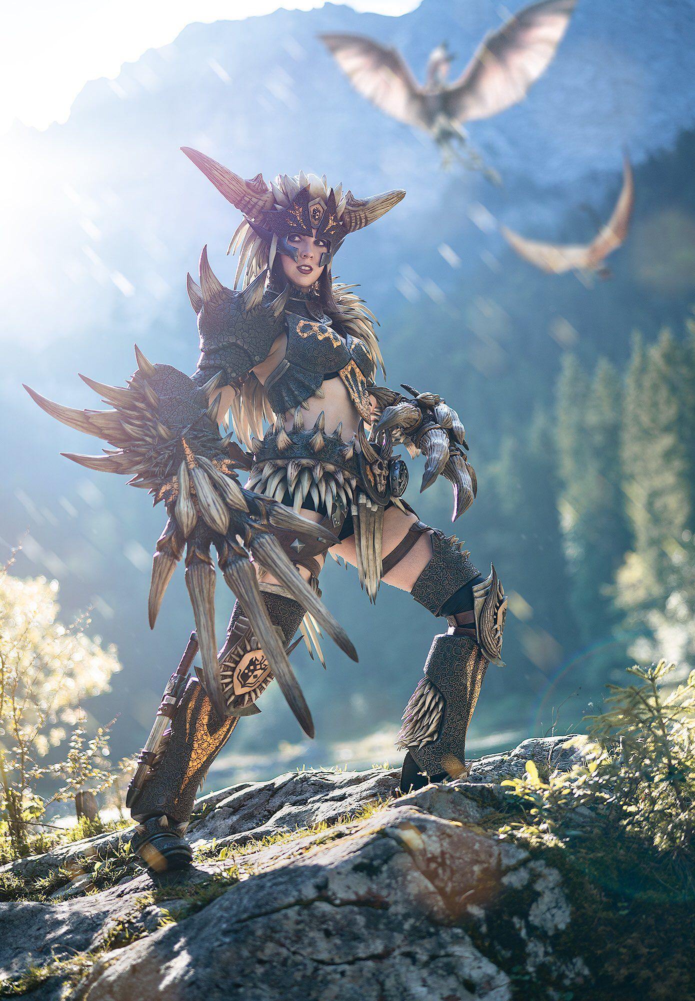 Monster Hunter World Nergigante Armor Cosplay Monster Hunter