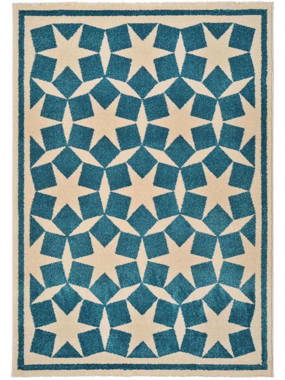 Great benuta Teppiche Teppich Anis Teppich Anis Blau x cm Pr fsiegel schadstofffrei Flormaterial