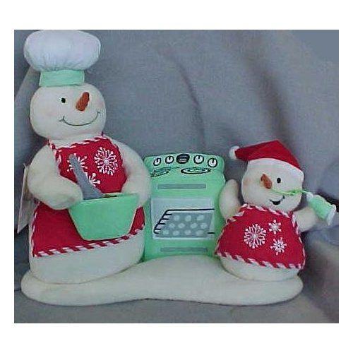 Snow Chefs Plush Singing Snowmen Hallmark Toys Vintage