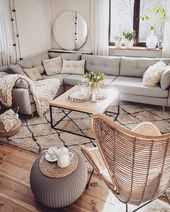 Neutral decoration room Gray and white love with natural tones Neutral decoration room Gray and white love with natural tones