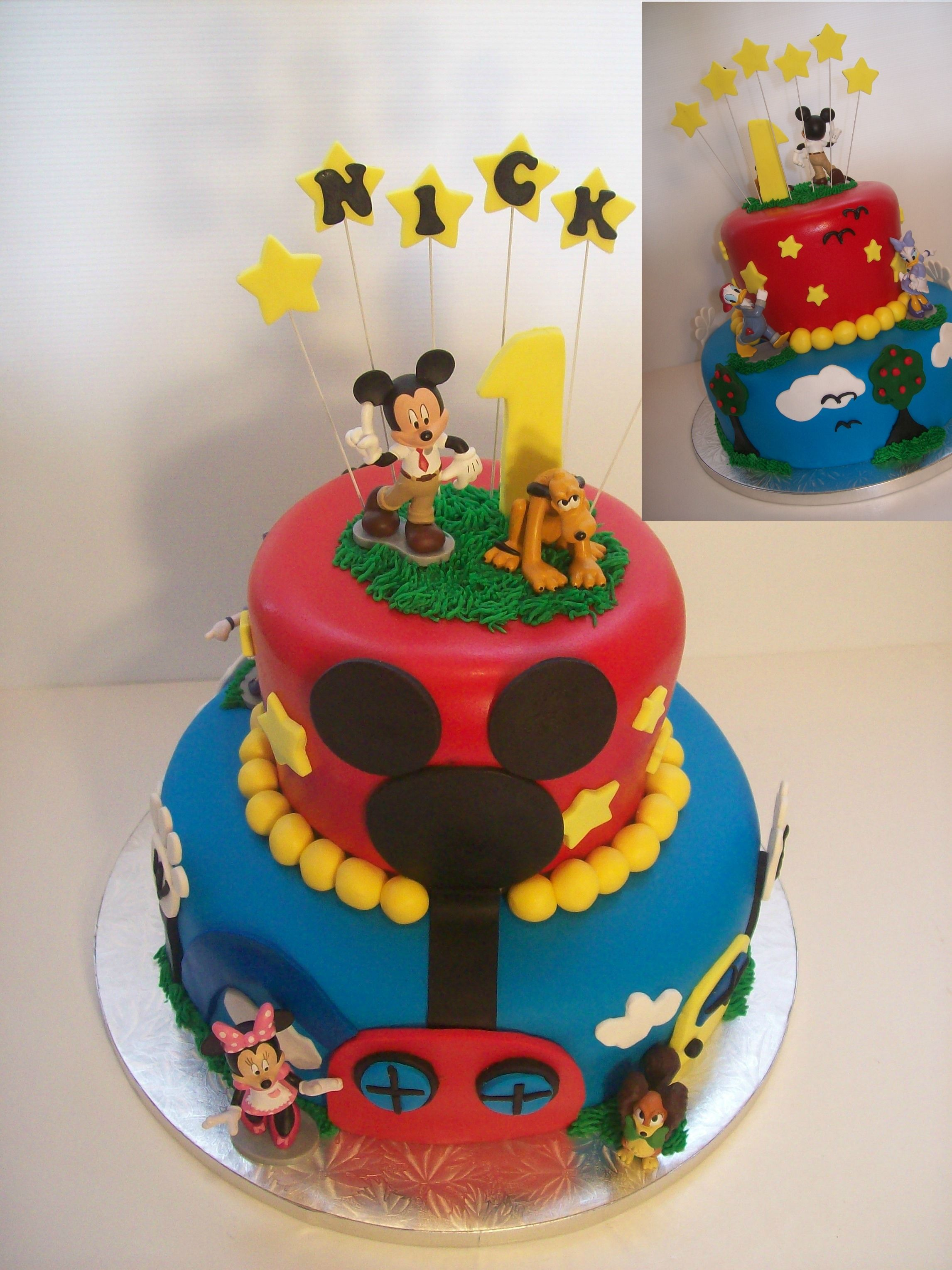 Mickey Clubhouse cake Auckland $350 (figurines bought from a licensed retailer)