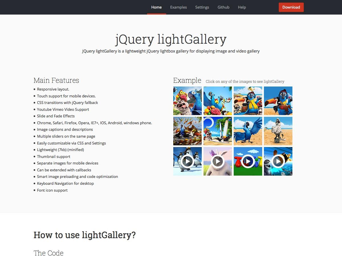 JQuery lightGallery | Jquery, Plugins, Light box