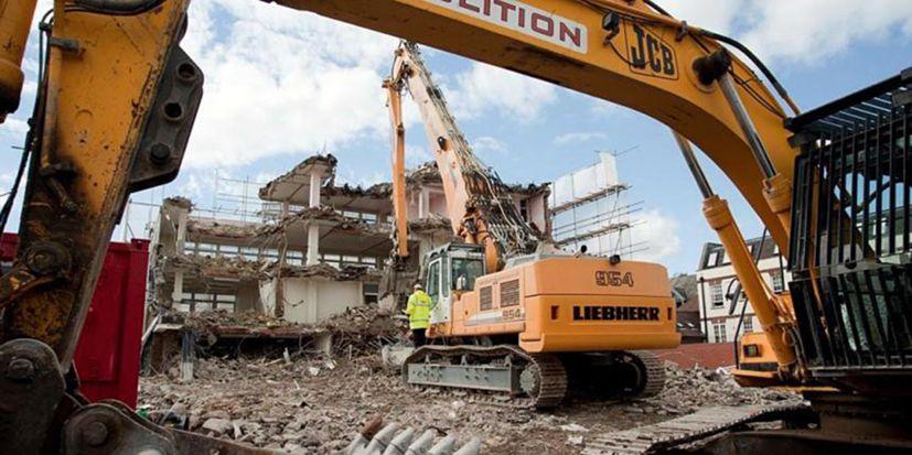 Demolition shows signs of weakening Demolition