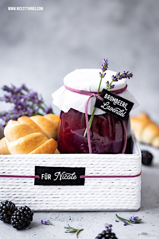 Brombeer Lavendel Marmelade: Konfitüre mit Brombeeren und Lavendelblüten als Geschenkidee - Nicest Things