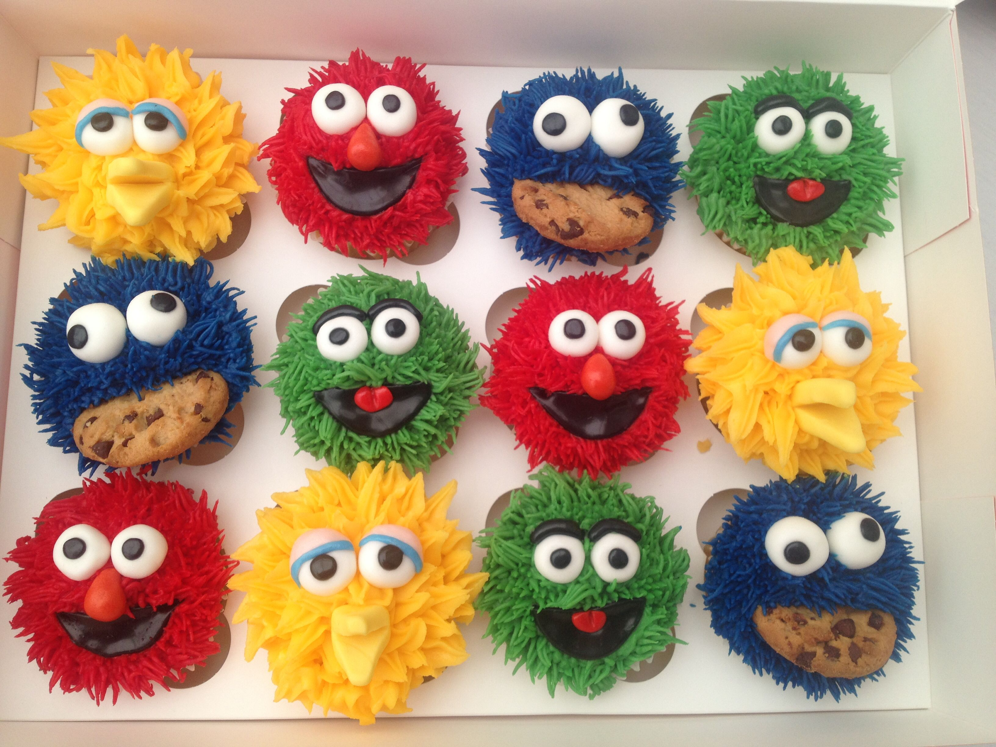 Sesame Street Cupcakes With Images Sesame Street Birthday