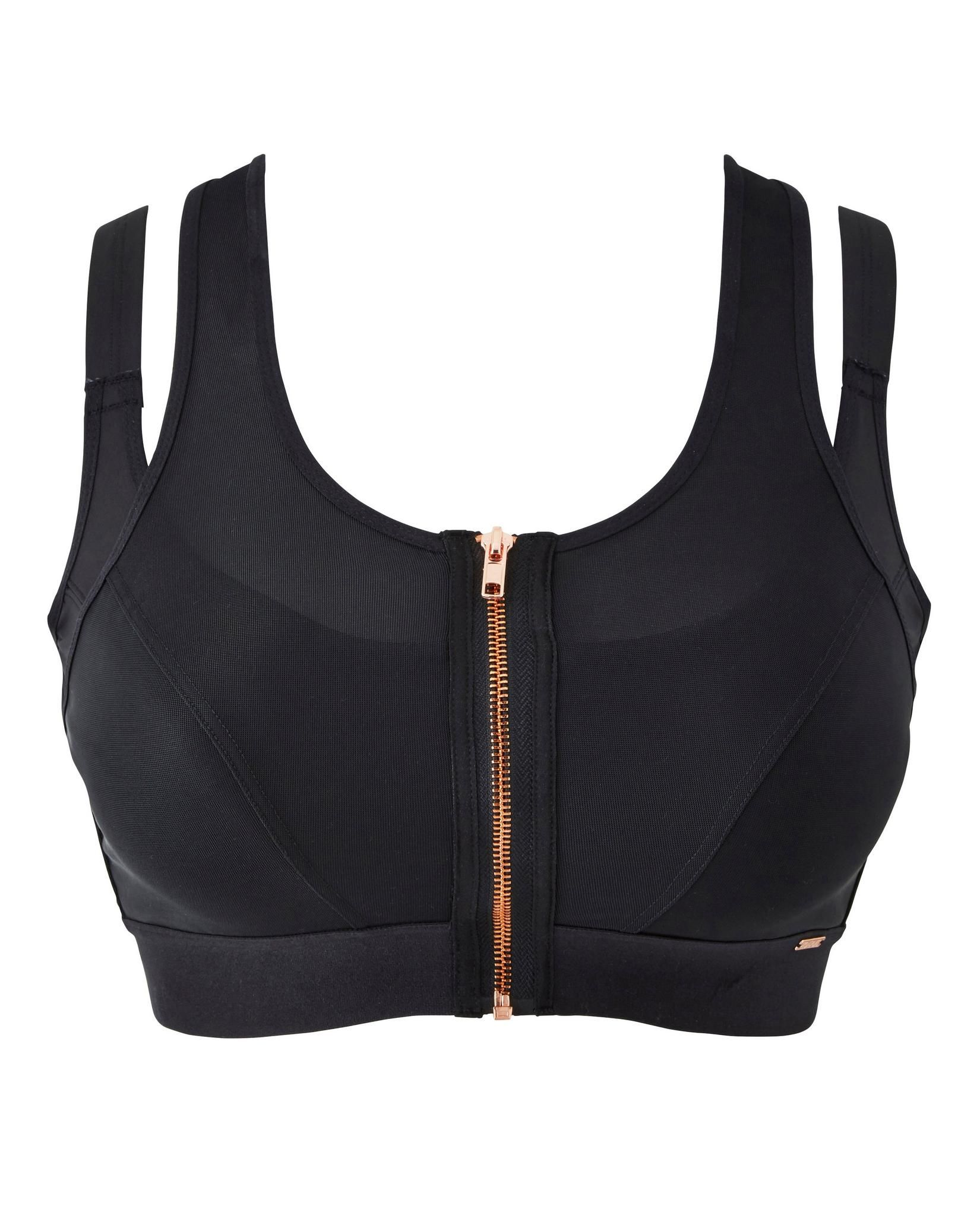 Figleaves Curve Two layer Zipper Front Sports Bra