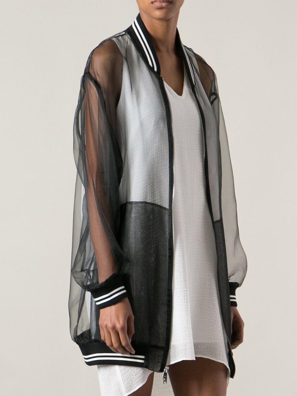 Women s Black Transparent Bomber Jacket  0231e2497e9f