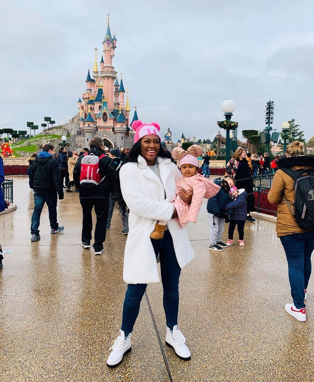 Kenya Moore Shares A Video With Baby Brooklyn Daly Walking