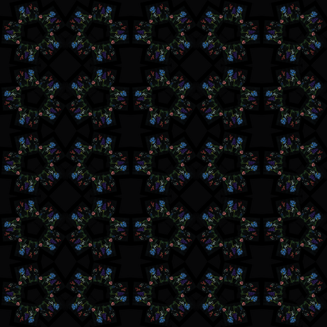Garden in the night fabric by teatralka on Spoonflower - custom fabric