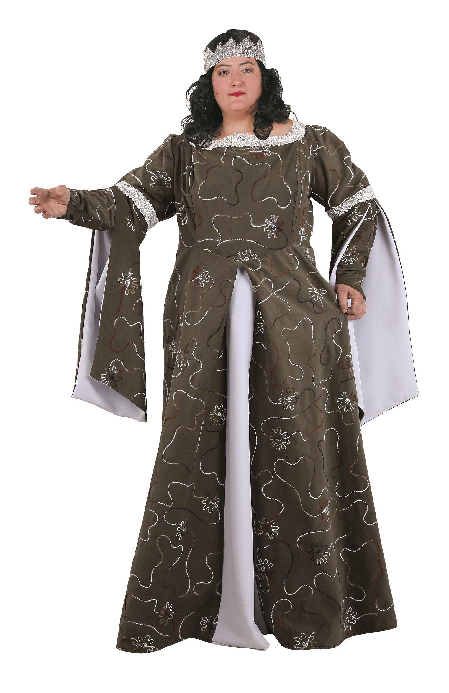 97ac11c63 Vestido de dama medieval talla grande para mujer