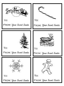 Secret Santa Tags PrintableFREE Simple Christmas Gifts