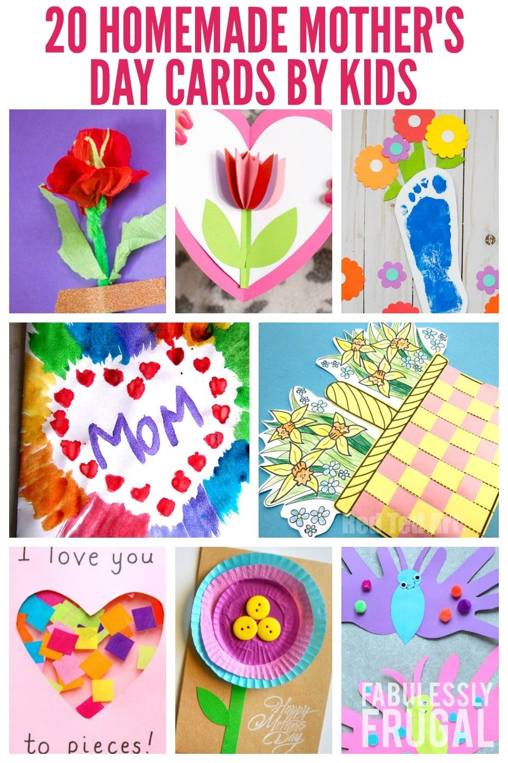 20 easy homemade mothers day card ideas for kids