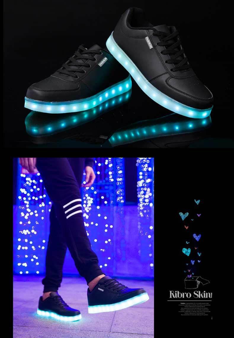 e952f9b7a34 Super Fashion 8 Colors Led Shoes Men Women Unisex Casual Light Up Shoes