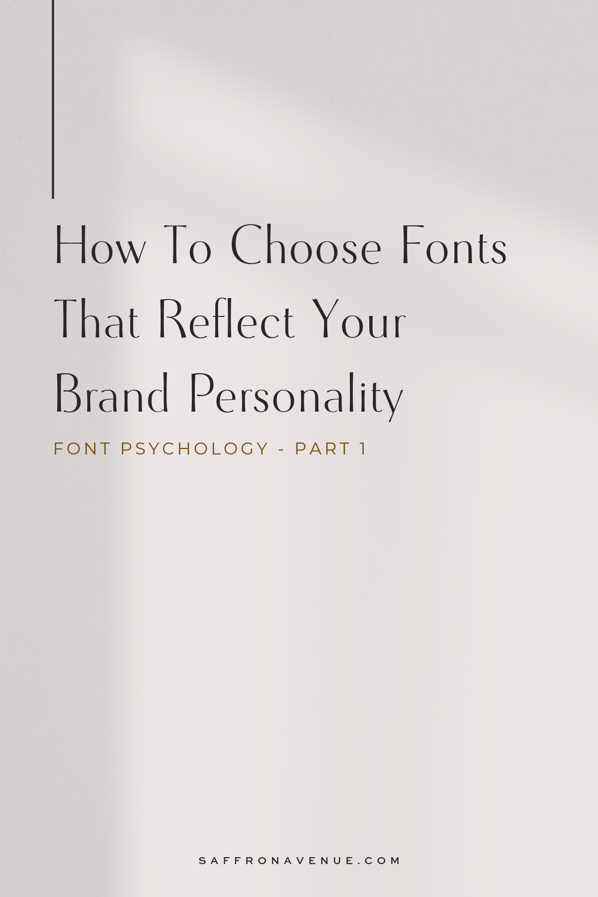 The typography you use on your website and in your brand has an emotional impact with your readers.  It's important to make sure they are accurately representing you.  Here is how to use font psychology when choosing your brand fonts.  For more brand resources and inspiration, visit www.saffronavenue.com  #fontpsychology #brandfonts #typography #brandstyle #saffronavenue