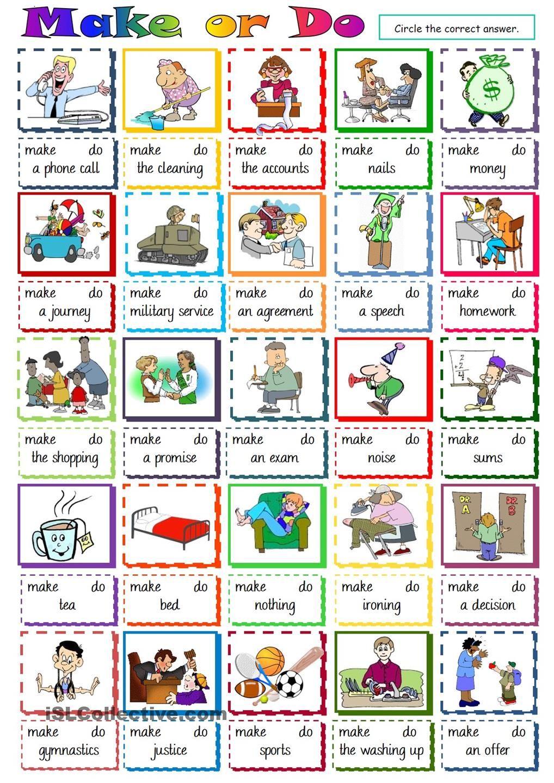 Make or Do - multiple choice | Teaching English : Adults & Teens ...
