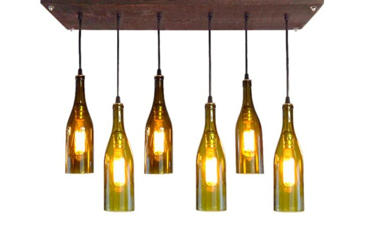 DIY bottle craft pendant lamps!