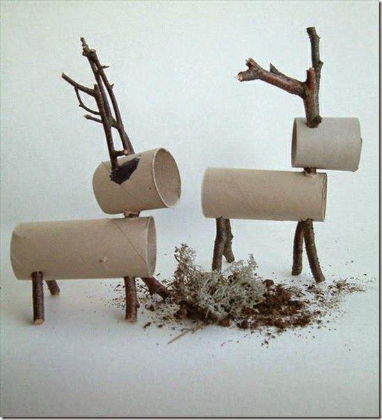 Manualidades con Tubos de Papel para Navidad   Proyectos que ...