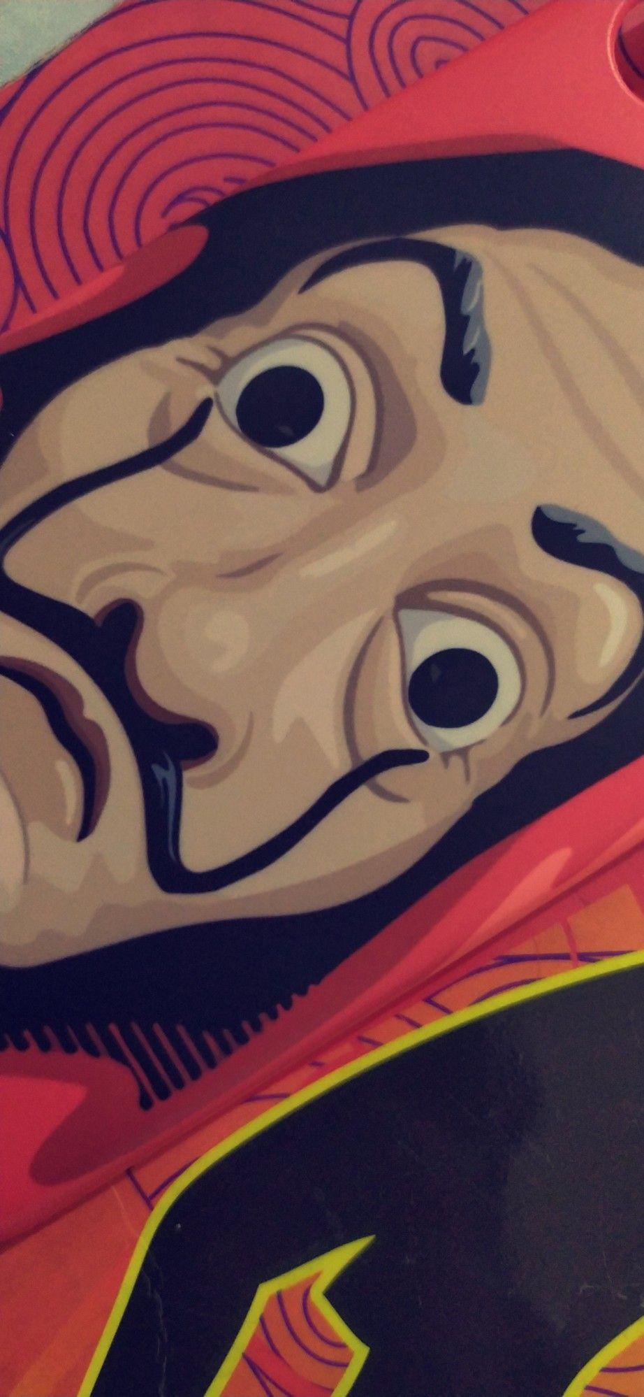Money Heist Dali Mask Salvador Dali Art Dali Art Art Iphone money heist mask wallpaper hd